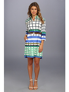 SALE! $87.92 - Save $50 on Donna Morgan Poplin Shift Shirtdress (Blue Green) Apparel - 36.29% OFF $138.00