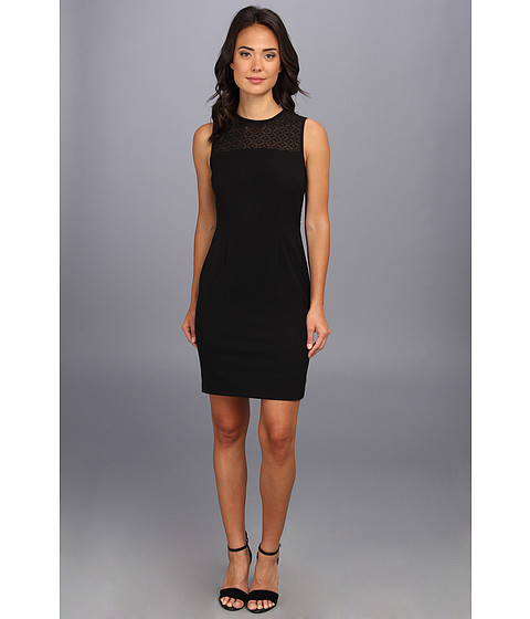 Calvin Klein - Illusion Top Lux Sheath Dress (Black) Women