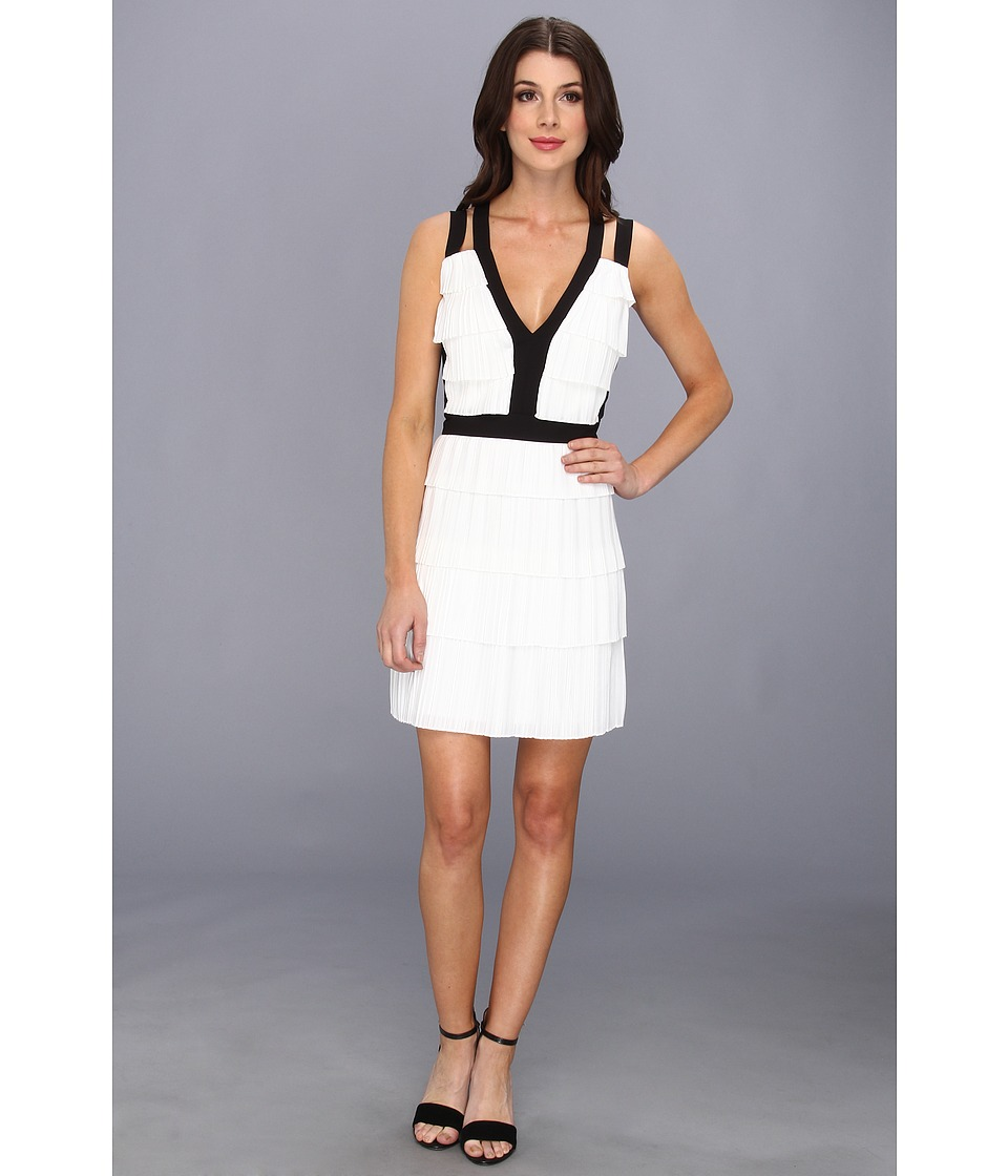 BCBGMAXAZRIA - Hartley Tiered Dress (White Combo) Women