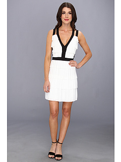 SALE! $194.99 - Save $103 on BCBGMAXAZRIA Hartley Tiered Dress (White Combo) Apparel - 34.57% OFF $298.00