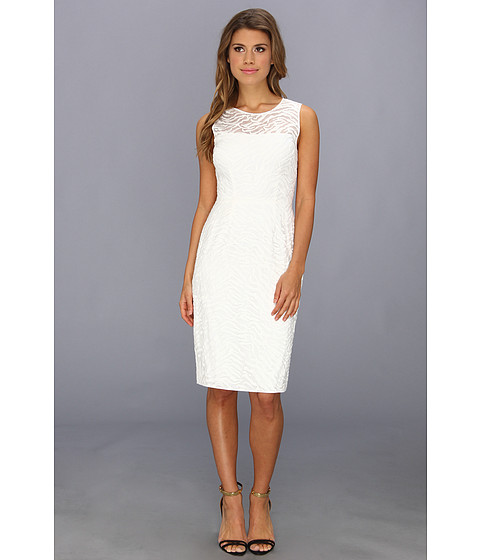 BCBGMAXAZRIA - Alice Shift Dress (Off White) Women's Dress