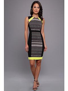 SALE! $174.99 - Save $93 on BCBGMAXAZRIA Eileen Sleeveless Sheath Dress (Black Combo) Apparel - 34.71% OFF $268.00