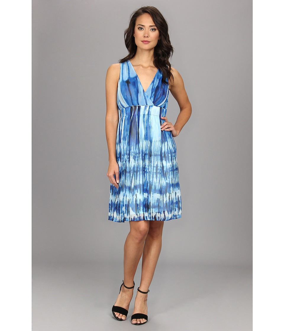 Calvin Klein Printed Chiffon Dress (Multi) Women