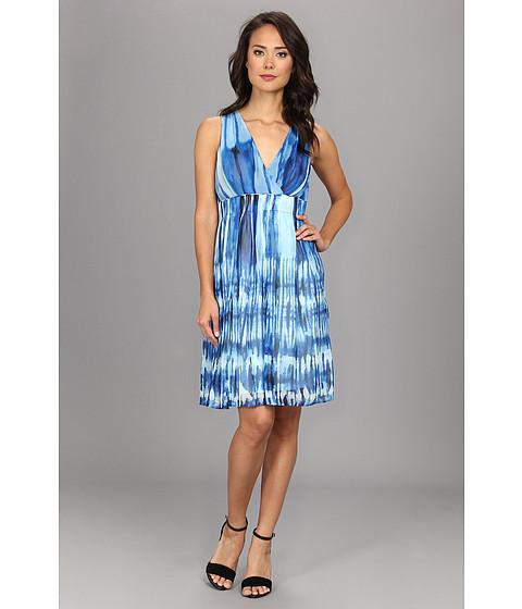 Calvin Klein - Printed Chiffon Dress (Multi) Women's Dress