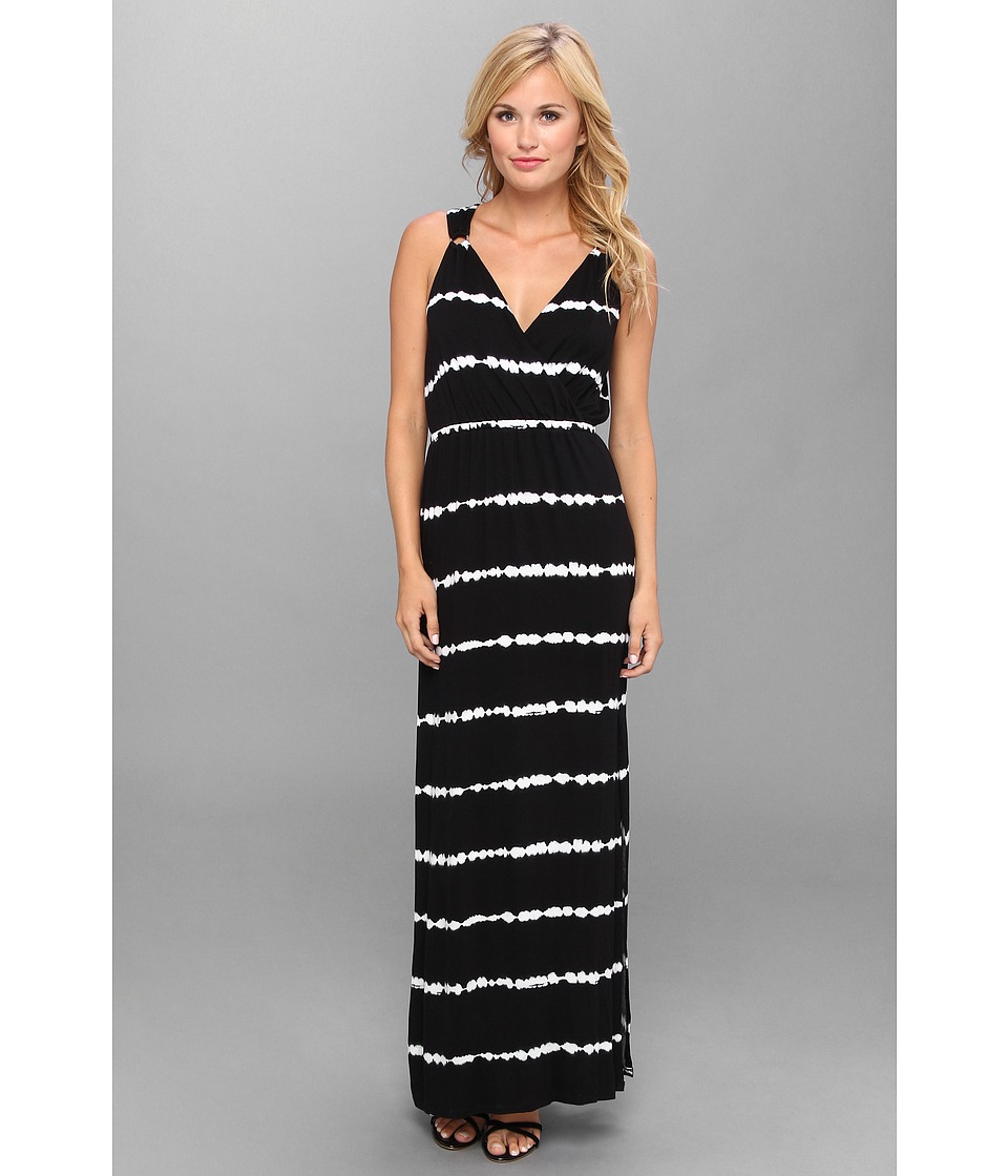 Calvin Klein - Tye Dye Maxi Dress (Black/White) Women's Dress