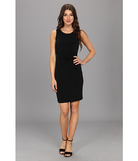 Calvin Klein - Side Knot Dress (Black) Women's Dress