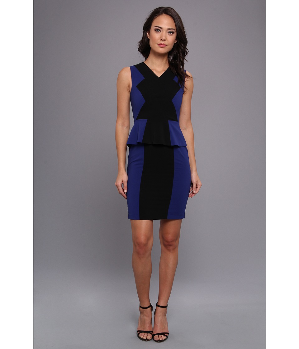 BCBGMAXAZRIA - Racha Sleeveless Peplum Dress (Orient Blue) Women's Dress