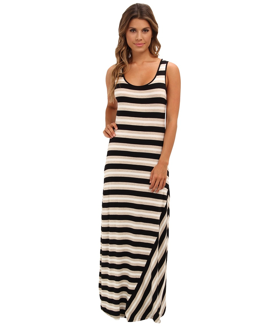Calvin Klein - Striped Tank Maxi Dress (Black Multi) Women's Dress