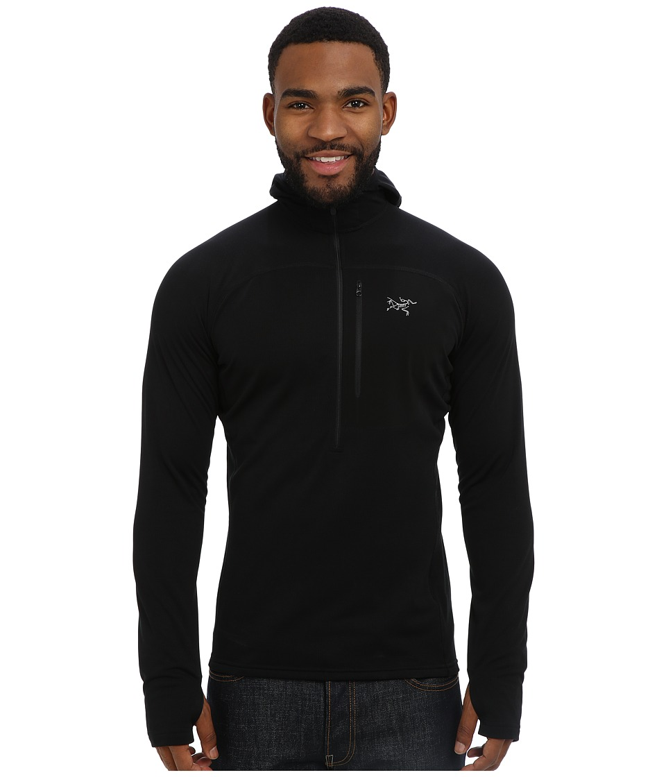 Arc'teryx - Konseal Hoody 3/4 Zip (Black) Men's Sweatshirt