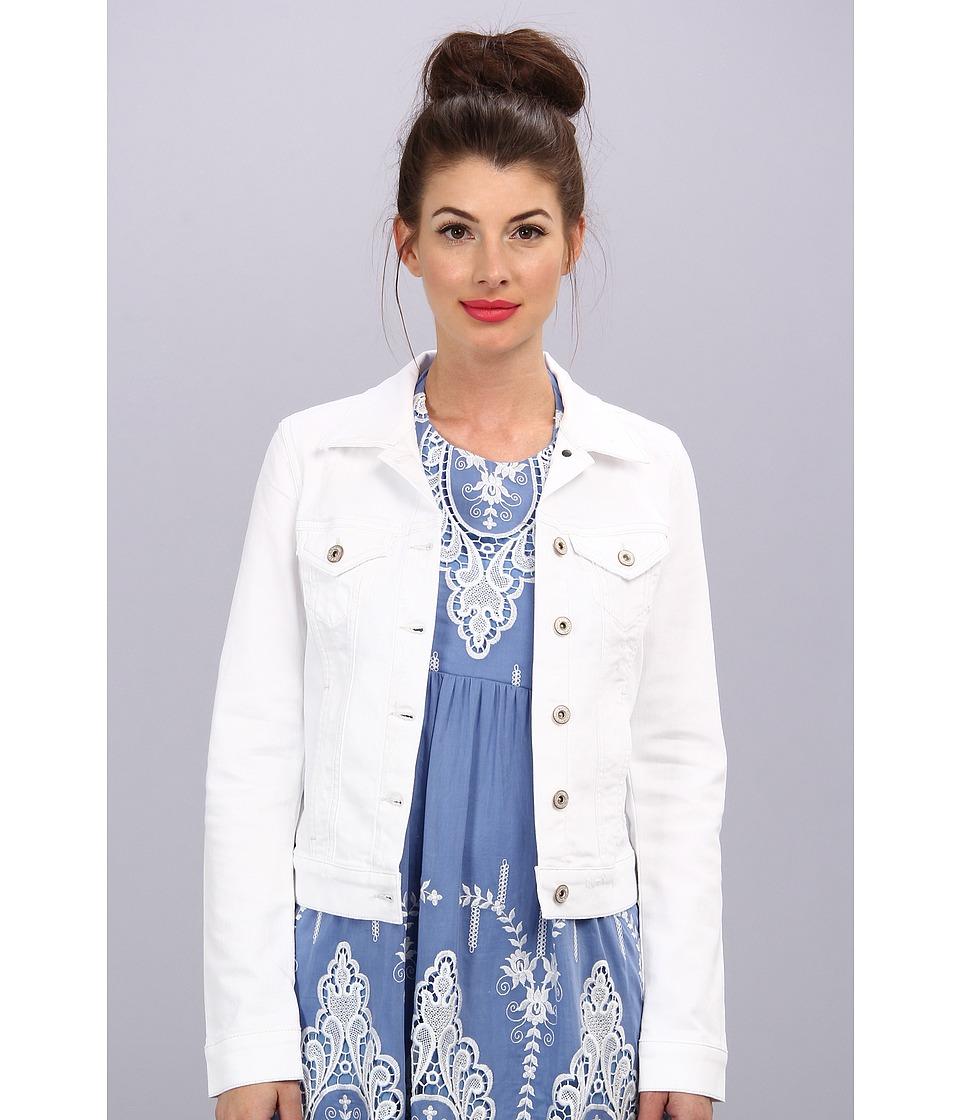 Mavi Jeans - Samantha Denim Jacket (White R-Vintage) Women's Coat