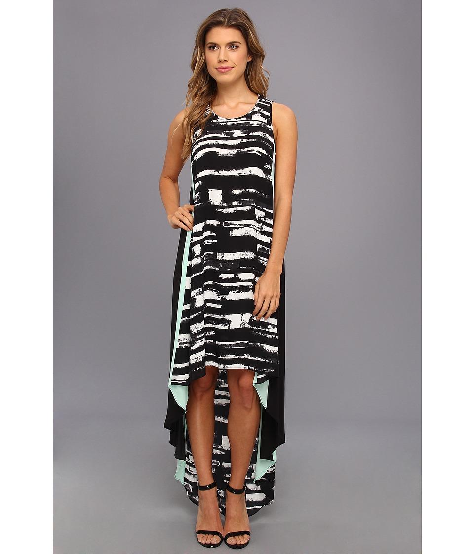 BCBGMAXAZRIA - Malisa Sleeveless Color Blocked Dress (Black Combo) Women's Dress