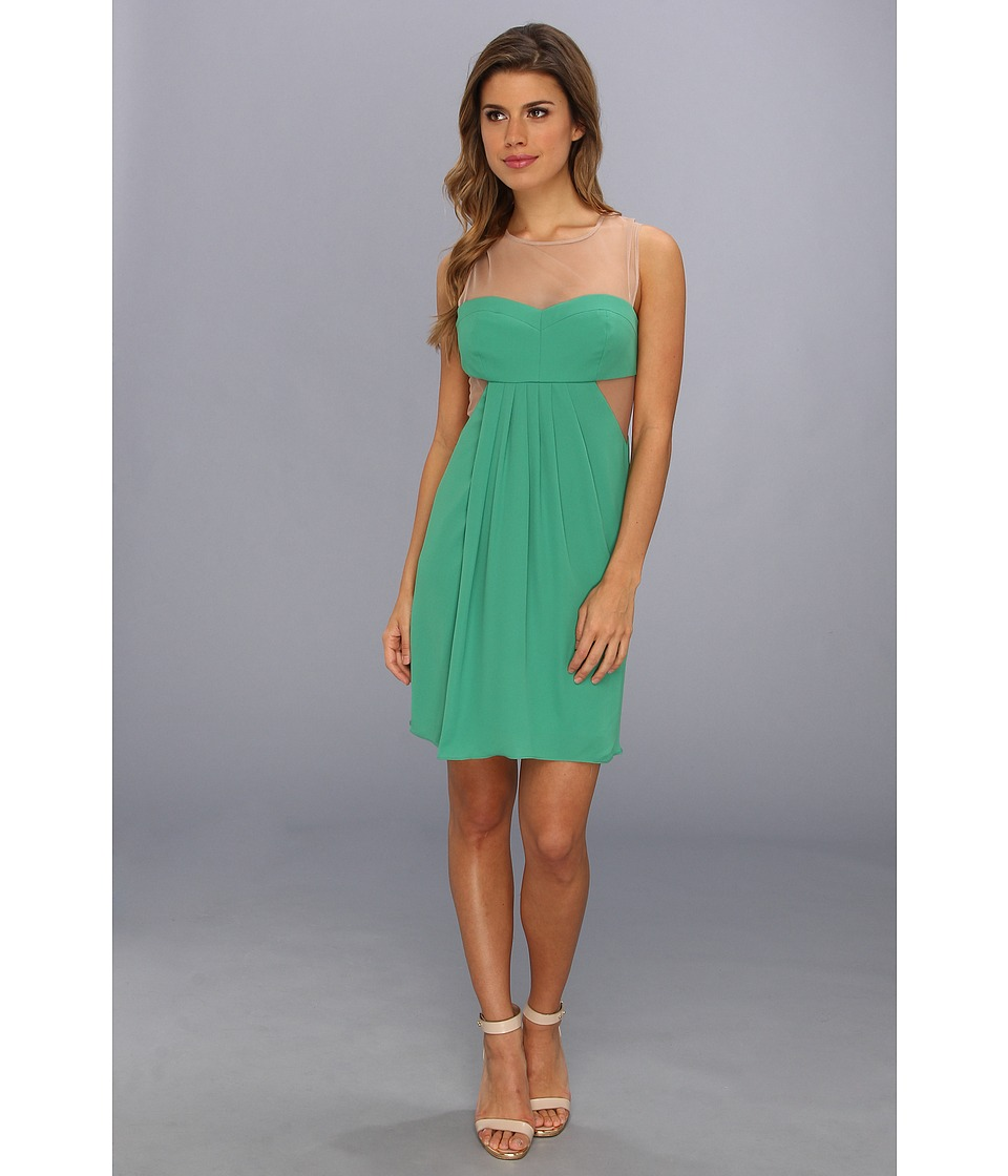 BCBGMAXAZRIA - Aicha Sleeveless Draped Skirt Dress (Kelly Green) Women's Dress
