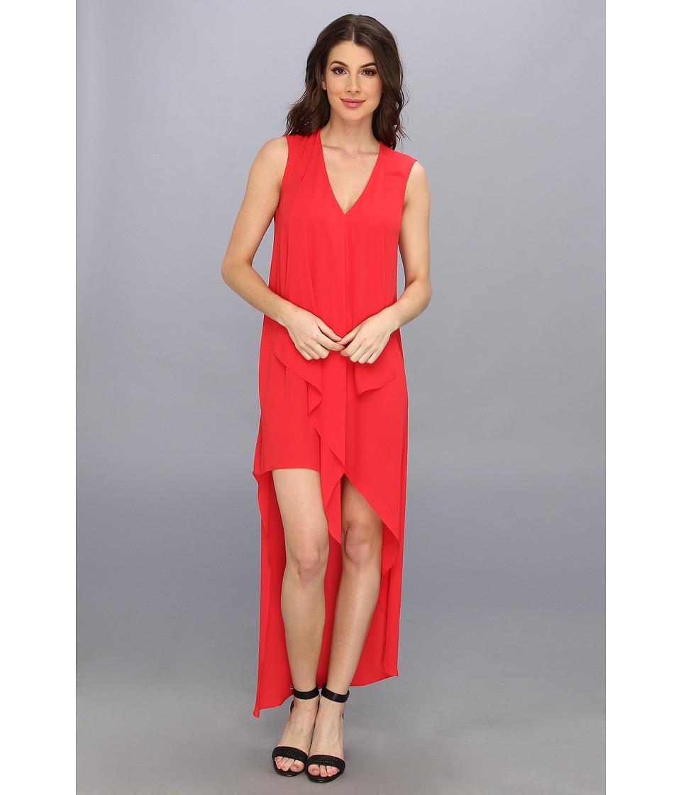 BCBGMAXAZRIA - Tara High-Low Maxi Dress (Lipstick Red) Women