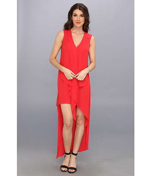 BCBGMAXAZRIA - Tara High-Low Maxi Dress (Lipstick Red) Women's Dress
