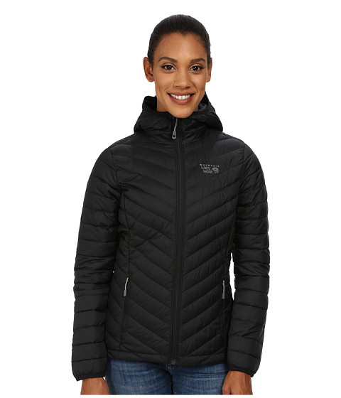 Mountain Hardwear - Micro Ratio Hooded Down Jacket (Black) Women's Jacket