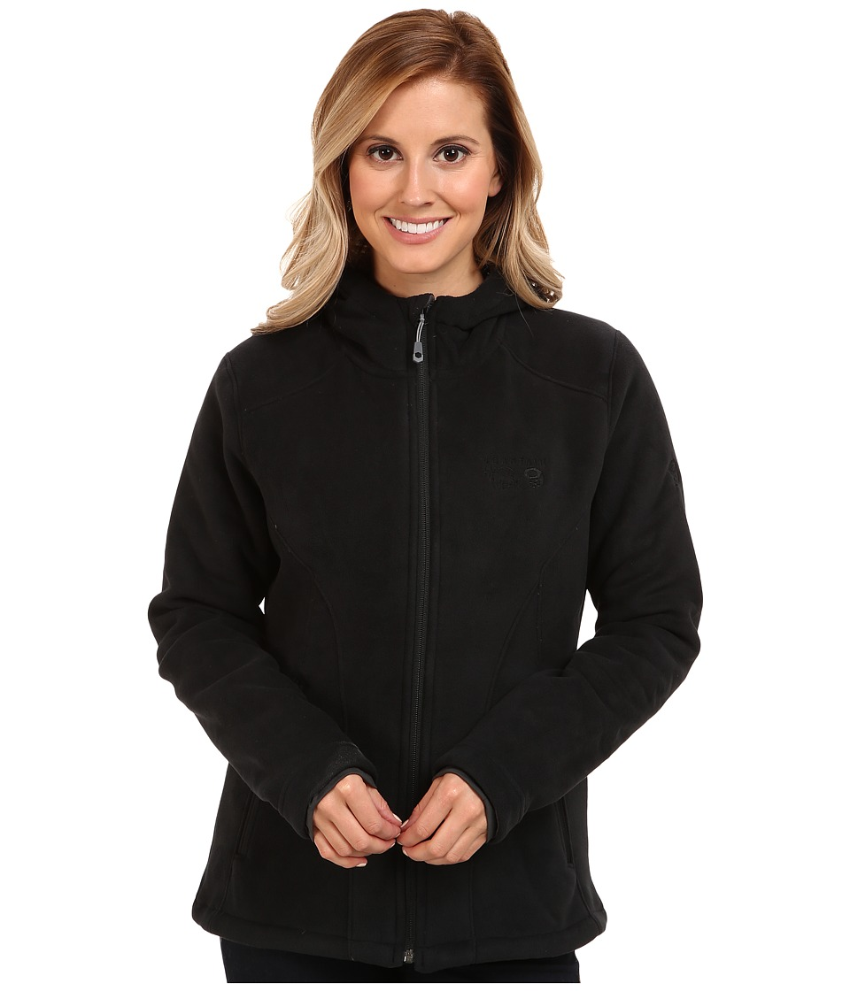 Mountain Hardwear - Dual Fleece Hooded Jacket (Black) Women's Jacket