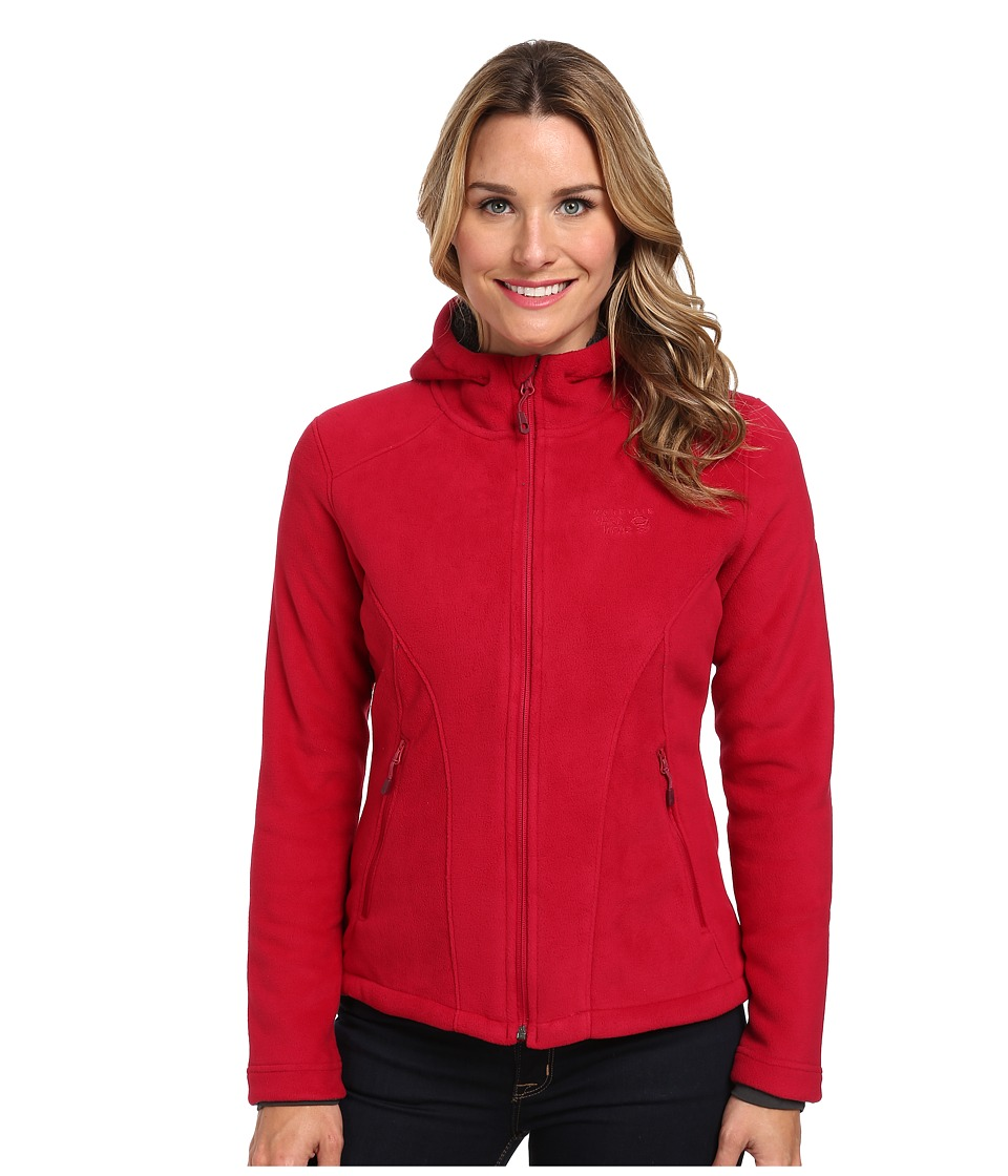 Mountain Hardwear - Dual Fleece Hooded Jacket (Pomegranate) Women