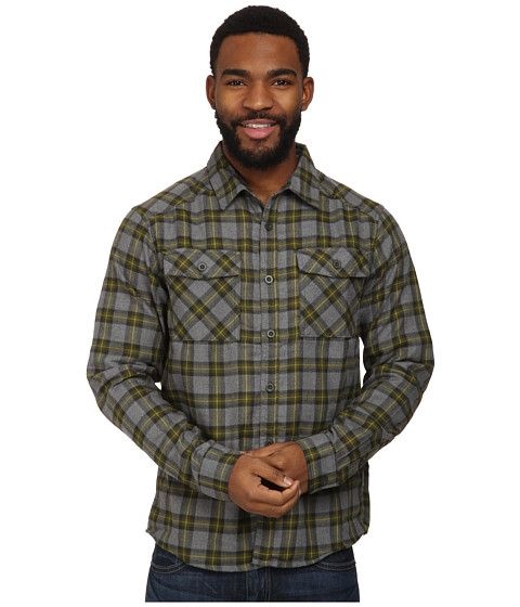 Mountain Hardwear - Trekkin Flannel Long-Sleeve Shirt (Utility Green) Men's Long Sleeve Button Up