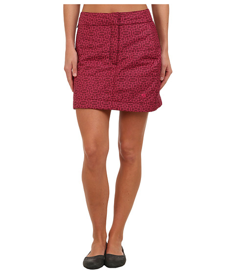Mountain Hardwear - Trekkin Printed Skirt (Rich Wine) Women