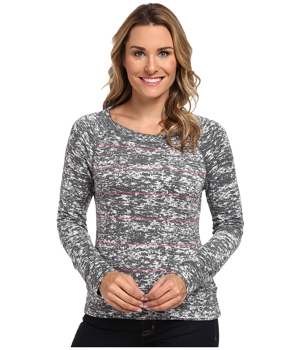 Mountain Hardwear - Burned Out Stripe L/S Top (Graphite '14) Women's Long Sleeve Pullover