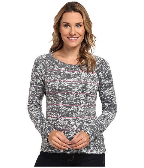 Mountain Hardwear - Burned Out Stripe L/S Top (Graphite