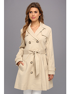 SALE! $109.99 - Save $89 on Vince Camuto Tie Waist Trench Coat (Tiramisu) Apparel - 44.73% OFF $199.00