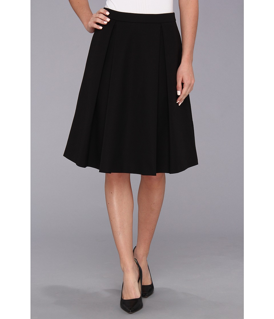 Vince Camuto Pleated Mini Skirt 14 Womens Skirt (Black)