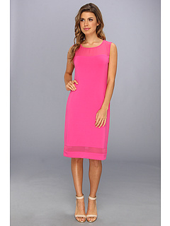 SALE! $39.99 - Save $59 on Vince Camuto Sheer Inset Dress (Dark Pink) Apparel - 59.61% OFF $99.00