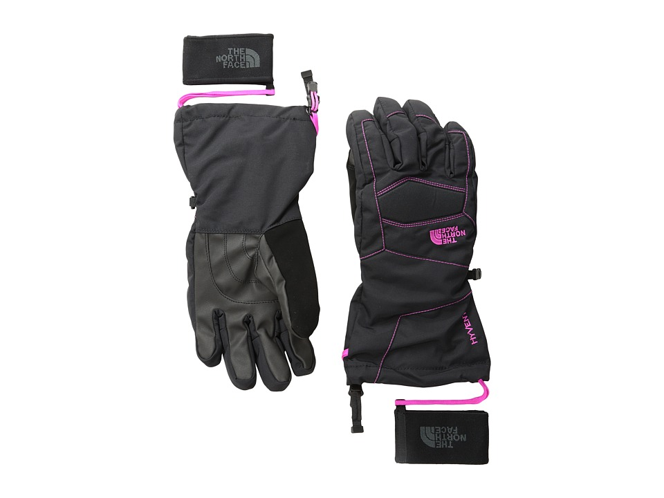 The North Face - Women's Montana Glove (TNF Black/Azalea Pink) Extreme Cold Weather Gloves