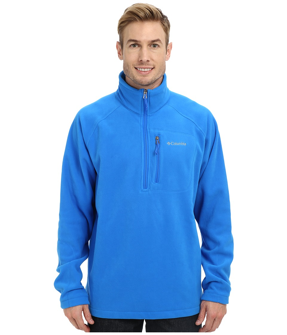 Columbia - Fast Trek II Half Zip Fleece (Hyper Blue/Collegiate Navy) Men's Jacket