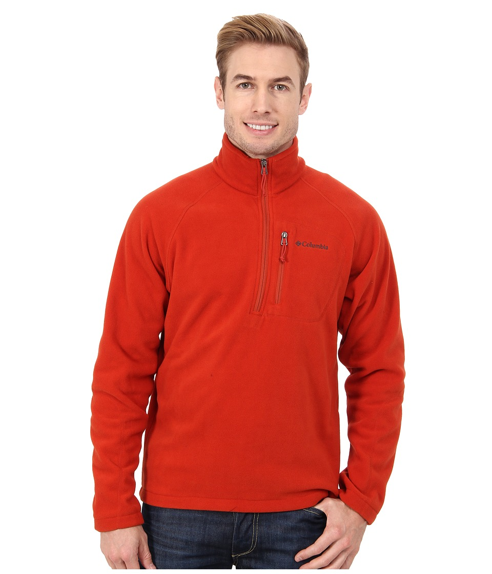 Columbia - Fast Trek II Half Zip Fleece (Flame) Men's Jacket