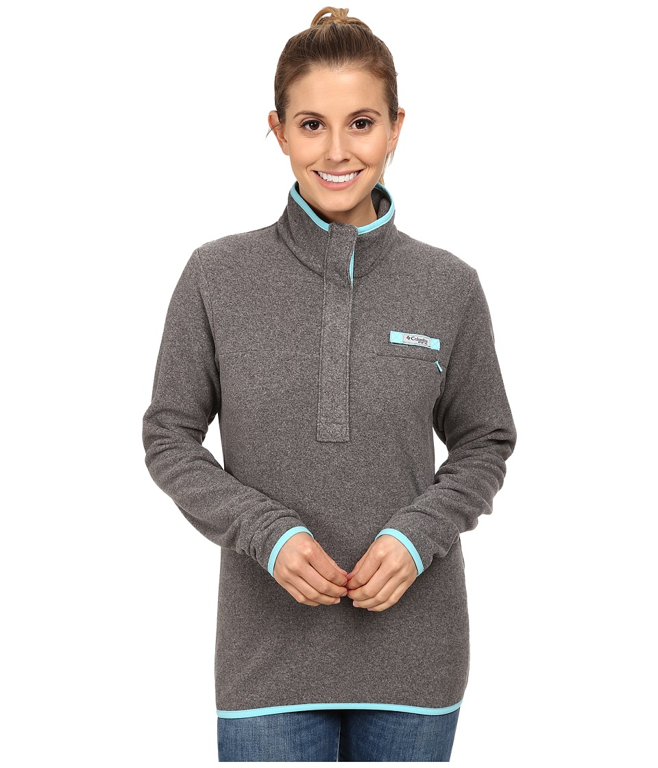 Columbia - Ombre Springs Fleece Jacket (Cool Grey Heather/Clear Blue) Women