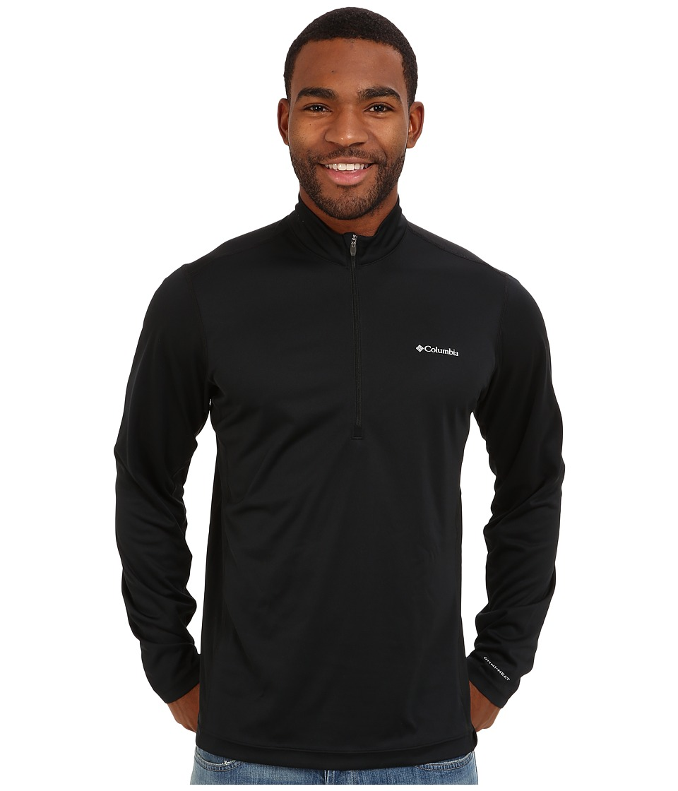Columbia - Midweight II Long Sleeve Half Zip (Black) Men's Clothing