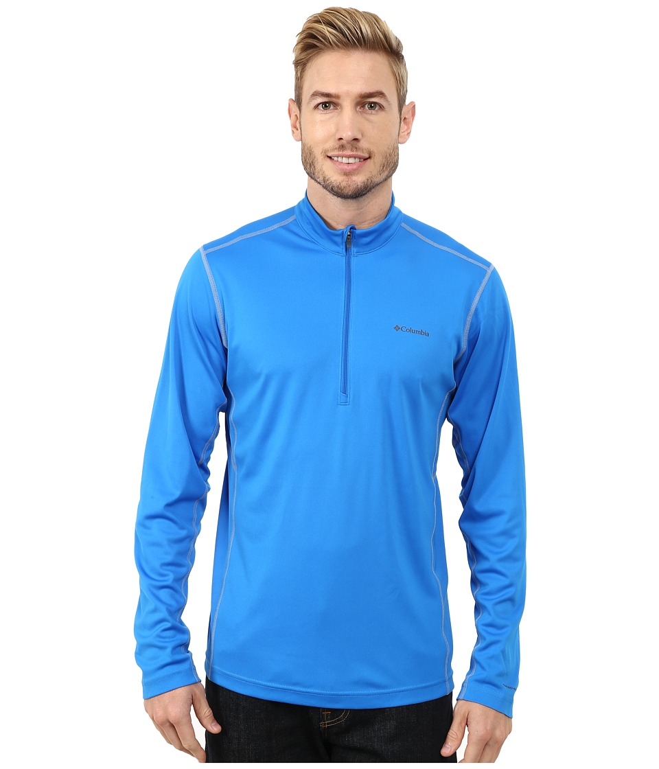Columbia - Midweight II Long Sleeve Half Zip (Hyper Blue/Tradewinds Grey) Men's Clothing