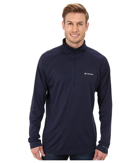 Columbia - Royce Peak Half-Zip Knit Shirt (Collegiate Navy/Carbon Heather) Men