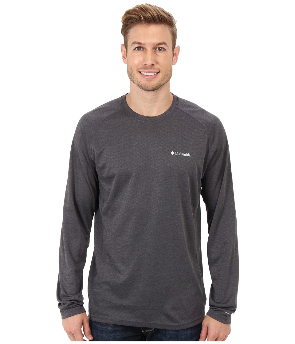 Columbia - Royce Peak Long-Sleeve Knit Shirt (Tradewinds Grey/Graphite Heather) Men's Long Sleeve Pullover