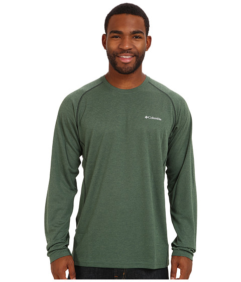 Columbia - Royce Peak Long-Sleeve Knit Shirt (Dark Backcountry/Deep Woods Heather) Men's Long Sleeve Pullover