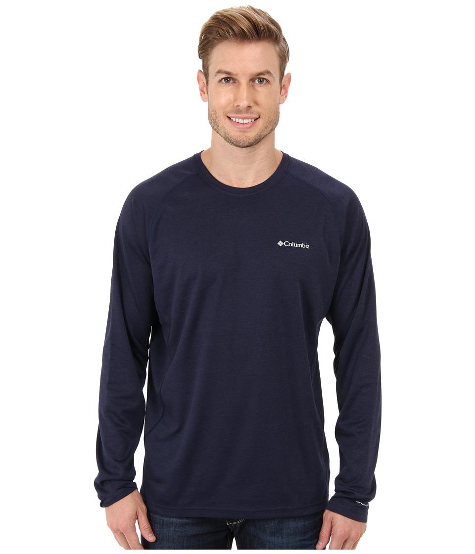 Columbia - Royce Peak Long-Sleeve Knit Shirt (Collegiate Navy/Carbon Heather) Men's Long Sleeve Pullover