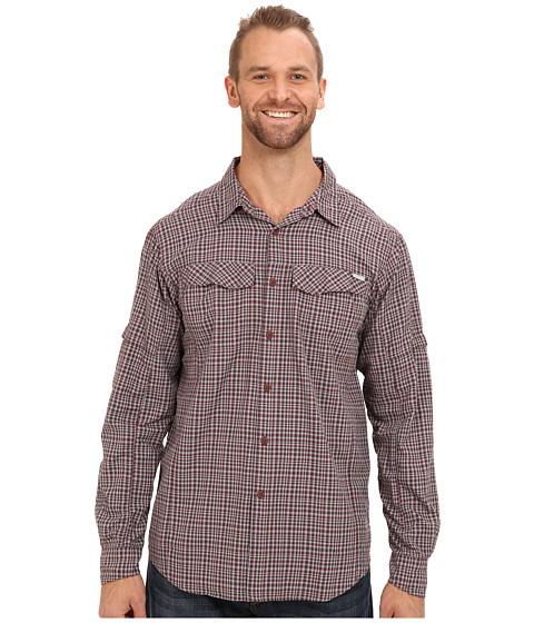 Columbia - Big Tall Silver Ridge Plaid L/S (Red Rocks Small Plaid Ripstop) Men's Long Sleeve Button Up