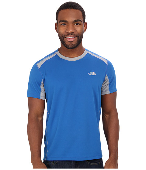 The North Face - GTD S/S (Snorkel Blue/Monument Grey) Men's T Shirt