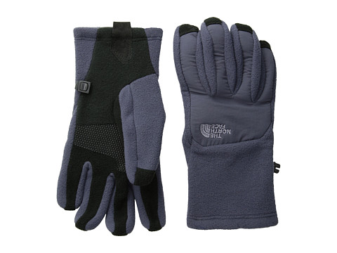 The North Face - Women's Denali Etip Glove (Greystone Blue/Greystone Blue) Extreme Cold Weather Gloves