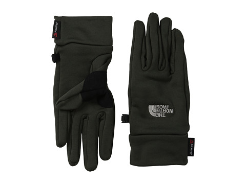 The North Face - Power Stretch Glove (Black Ink Green) Extreme Cold Weather Gloves