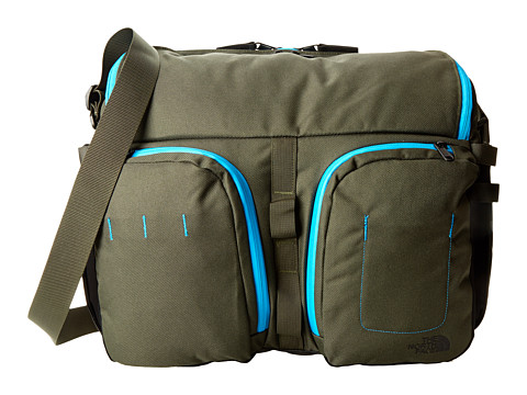 The North Face - Westing Messenger (Military Green/Meridian Blue) Messenger Bags