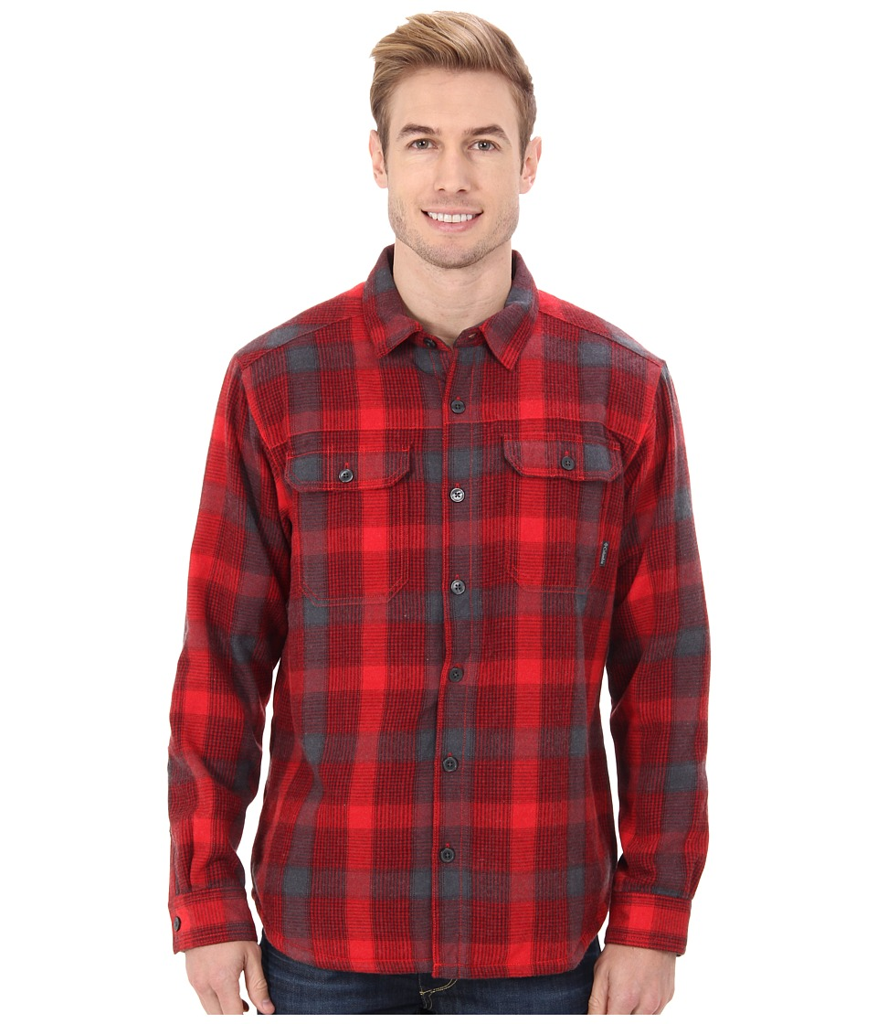 Columbia - Windward III Overshirt (Bright Red Plaid) Men's Clothing