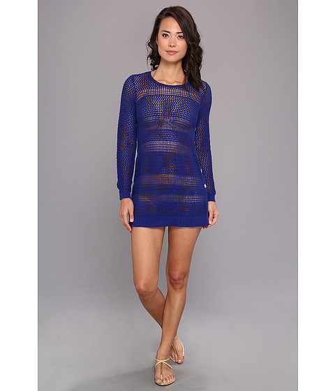 Tommy Bahama - Beach Sweater w/ Side Buttons Cover-Up (Offshore Blue) Women's Swimwear