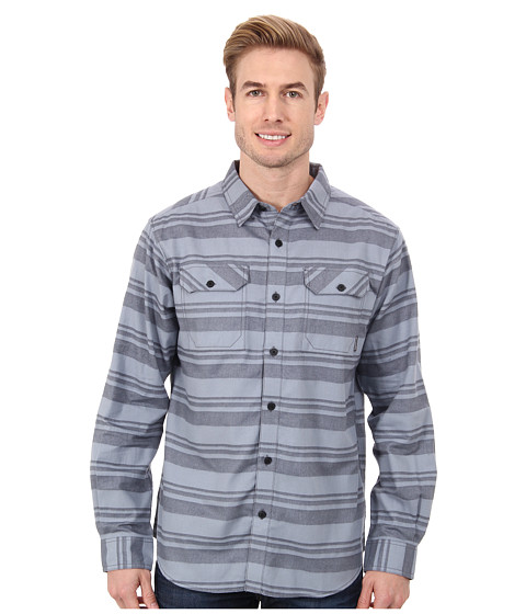 Columbia - Flare Gun Flannel III Long-Sleeve Shirt (Graphite Stripe) Men's Clothing