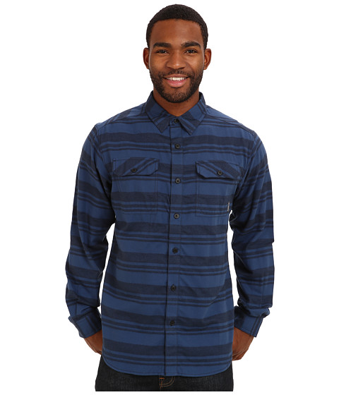 Columbia - Flare Gun Flannel III Long-Sleeve Shirt (Abyss Stripe) Men's Clothing
