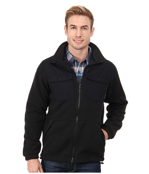 Columbia - Terpin Point Overlay Fleece (Black Heather/Black) Men