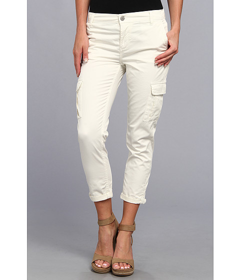 Calvin Klein Jeans - Slim Cargo Crop Pant (Vanilla) Women's Casual Pants