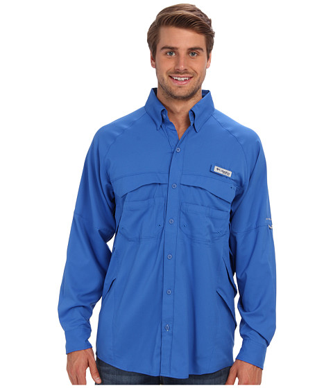 Columbia - Airgill Lite II L/S Shirt (Vivid Blue) Men's Long Sleeve Button Up